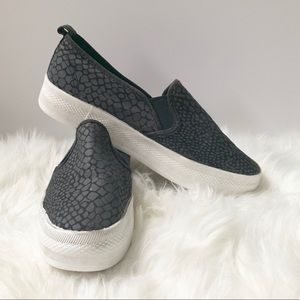 H&M Crocodile Print Platform Slip On Sneakers